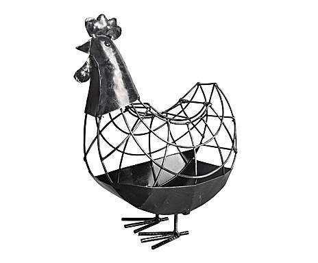 GIARDINO D'INVERNO: gallina decorativa in metallo emily - 24x37x18 cm