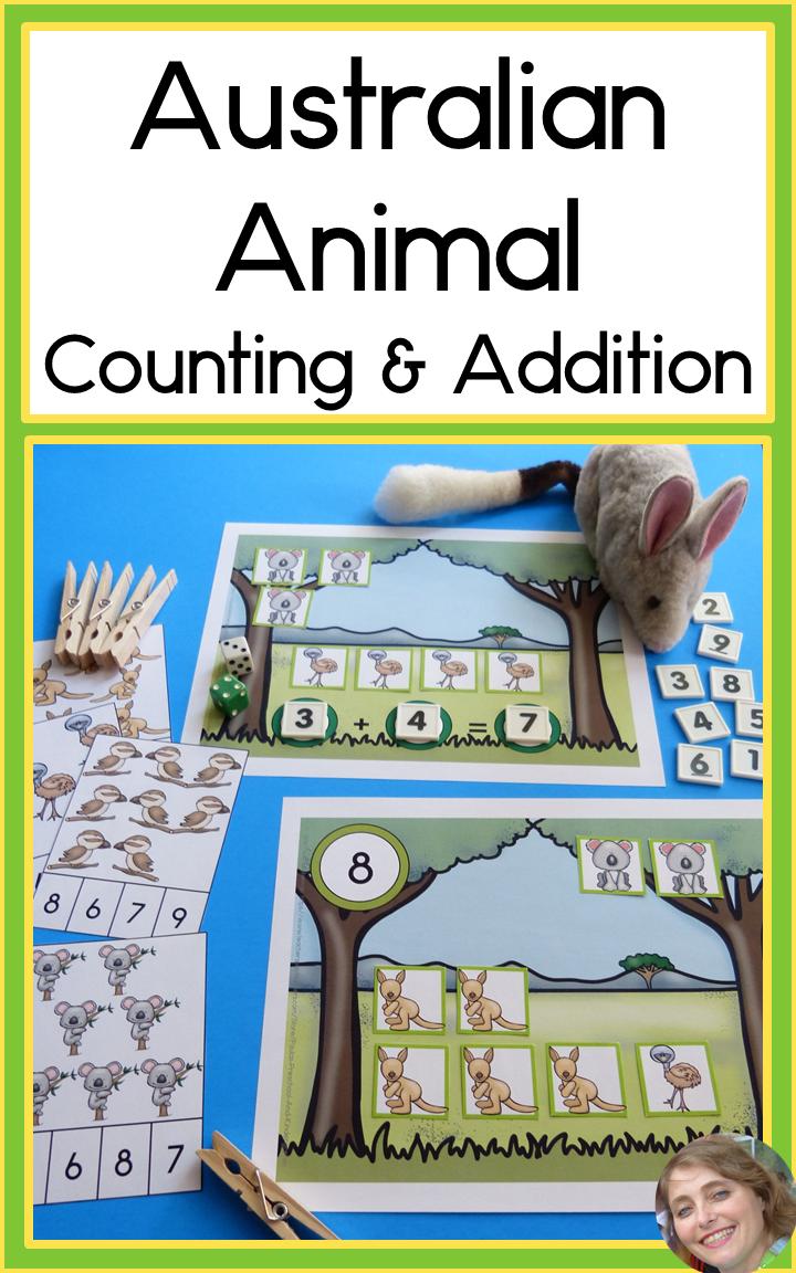 Australian Animals Counting and Addition Australian
