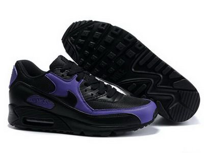 sports shoes a7347 a9212 Ken Griffey Shoes Nike Air Max 90 Black Purple Fashion  Nike Air Max 90 -  Mesh and leather materials make the upper become extremely breathable and  durable.
