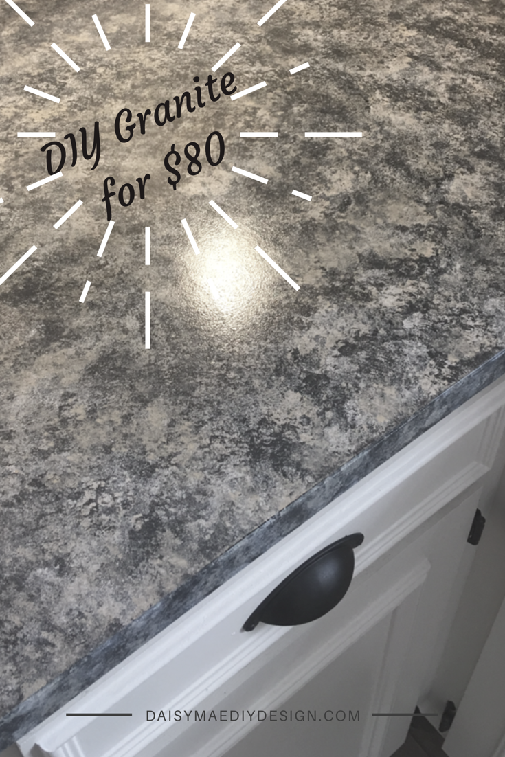 DIY Giani Granite Countertop Paint Kit For $80 Transformation On A Budget  Kitchen Remodel Slate Color Simple Step By Step Instructions With Pictures