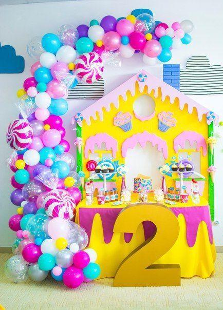 Colores De Moda Para Fiestas Infantiles Tematicas Candy Birthday Party Candy Land Birthday Party Candy Theme Birthday Party