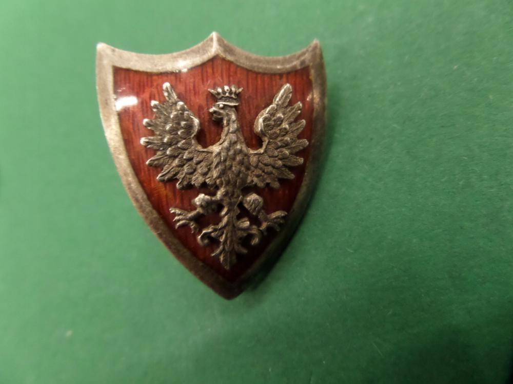 Tarcza Z Orlem W Koronie Srebro 8899613823 Oficjalne Archiwum Allegro Brooch
