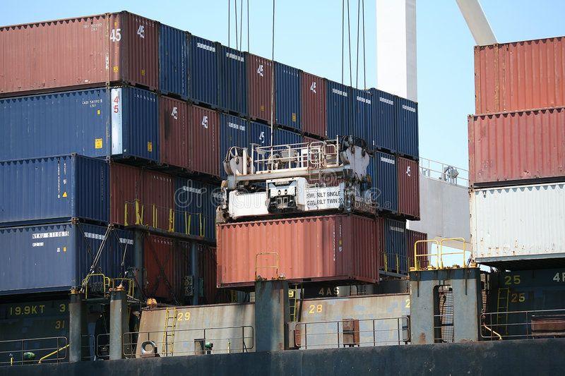 Crane Picking up cargo container