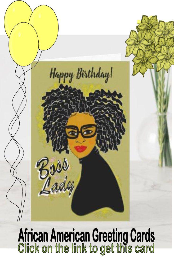 Boss Lady Happy Birthday African American Card Zazzle