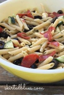 Grandma's Pepperoni Pasta Salad Recipe - Skirted Blues