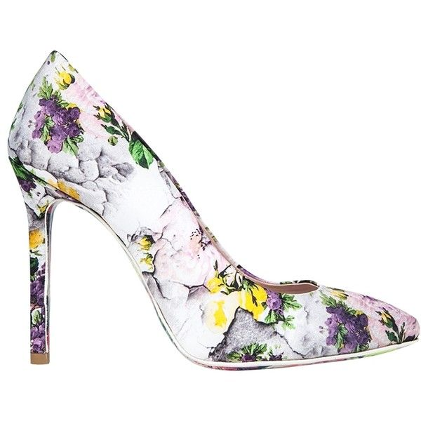 a8da570a5ff4 Msgm Floral Print Canvas Pumps ( 398) ❤ liked on Polyvore featuring shoes
