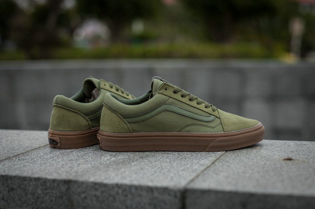 72510b00437074 Retailmenot Coupon Vans Classic Old Skool Low Army Green Skate Shoe Vans  For  Vans