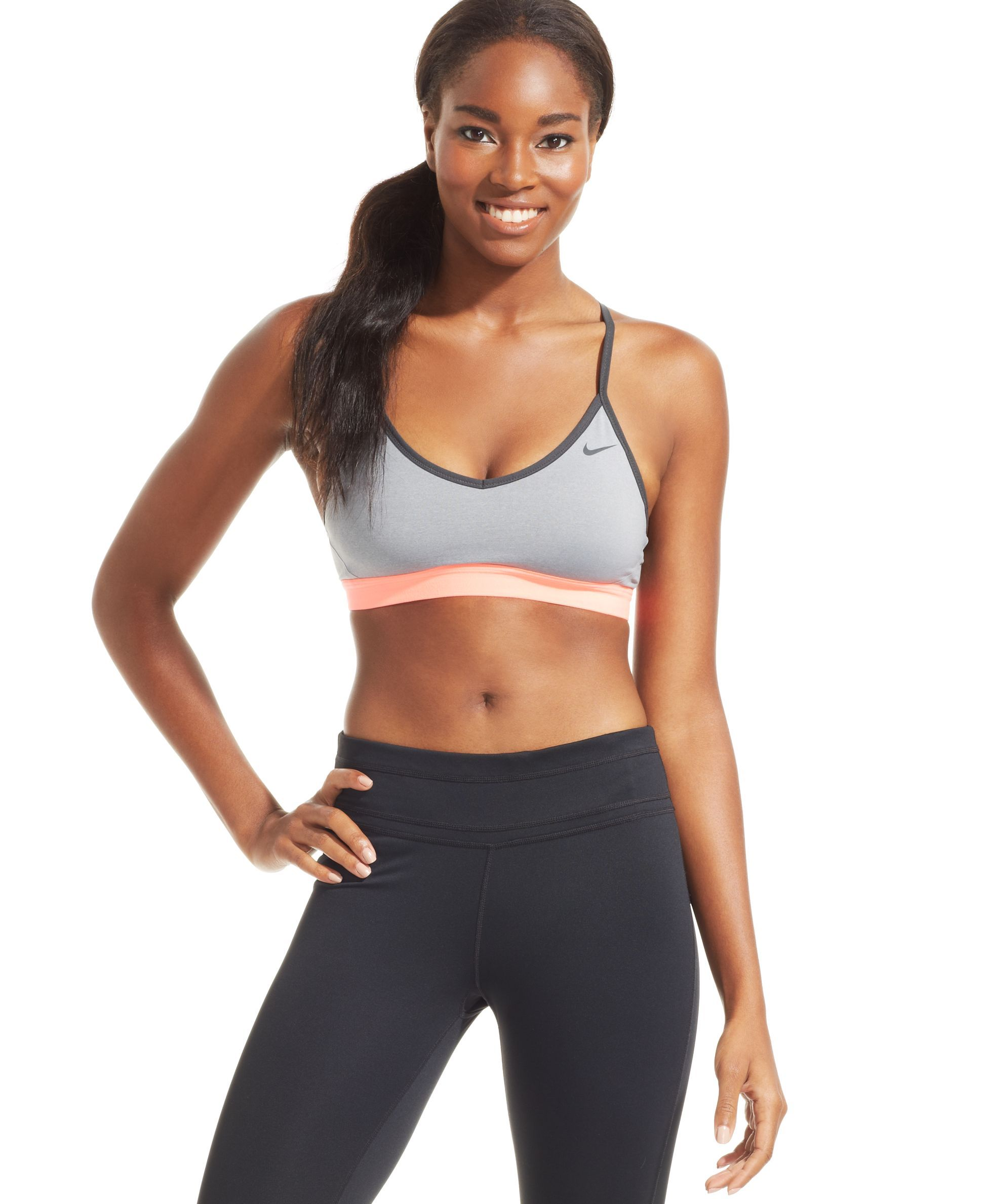 90f8b37e72556 Nike Pro Indy sports bra. The problem with most minimal-support sports bras  is their lightweight fabric s tendency to cause nipple-itis…