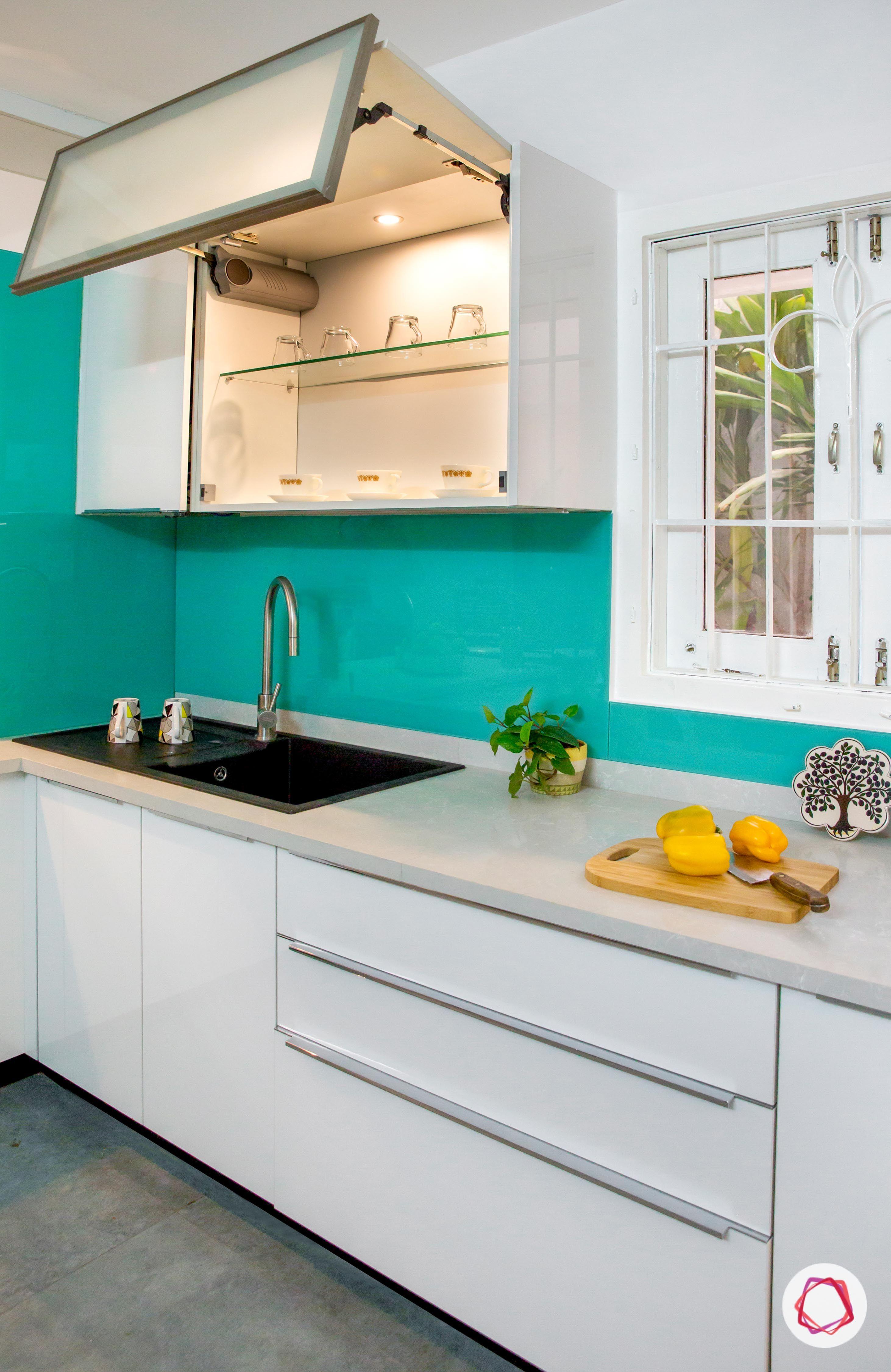 white #modularkitchen #blue #mediterranean | Modular Kitchens Design ...
