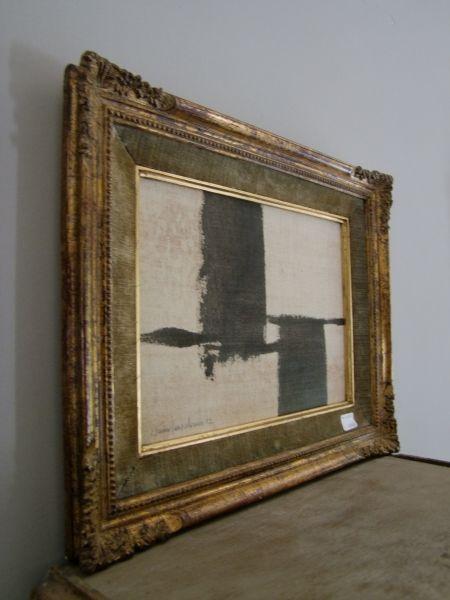 Framing and art juxtaposition. Love!   Art or Interiors   Pinterest ...