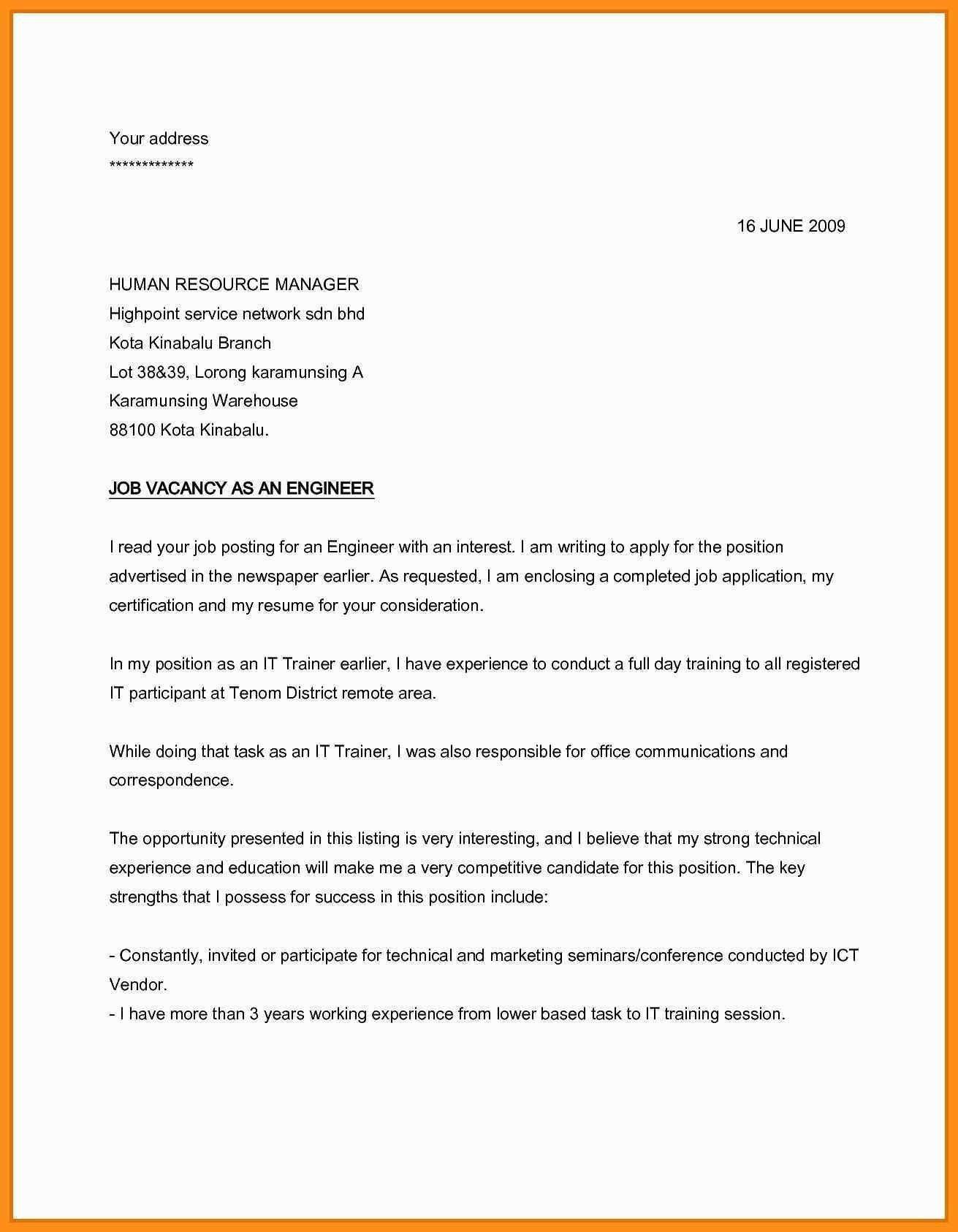 26+ cover letter for applying job example of good resume internship basic format mechanical sales engineer