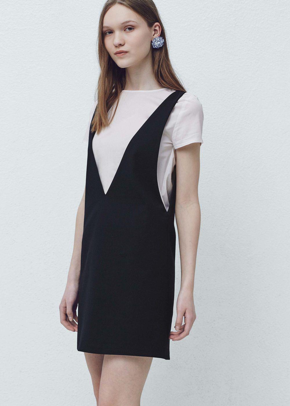 Pinafore Dress With T Shirt Women