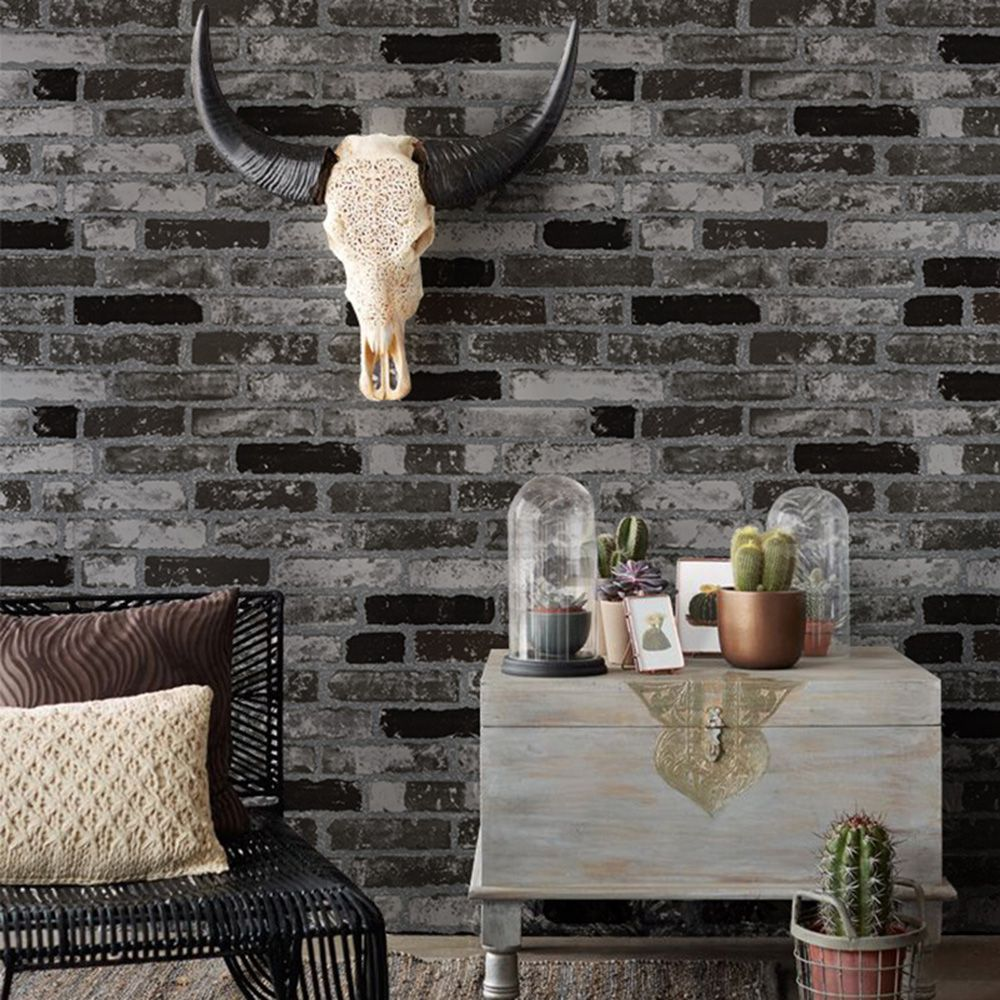 Dark Pattern Wallpaper Brick Wallpaper Faux Brick Wallpaper Brick Wallpaper Bedroom