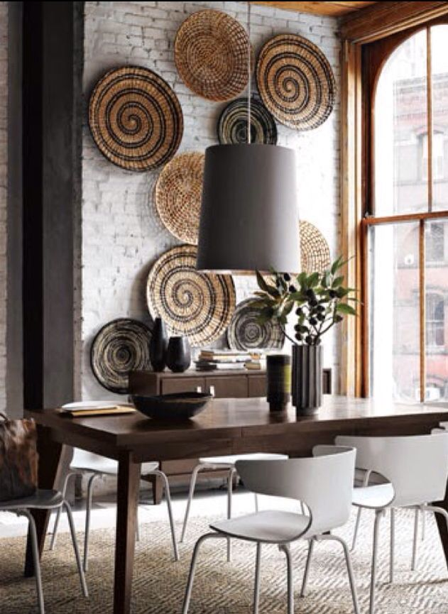Basket Wall Dining Room Contemporary African Home Decor Decor