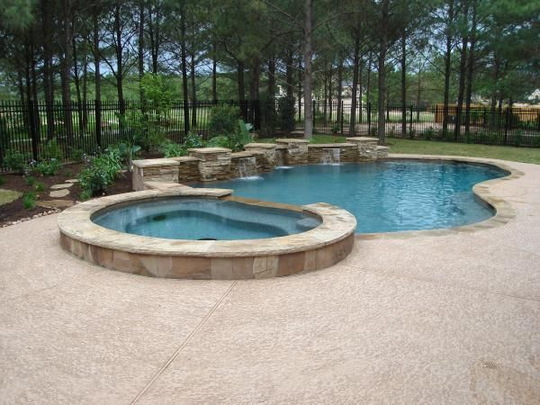 houston pools with flagstone pool coping