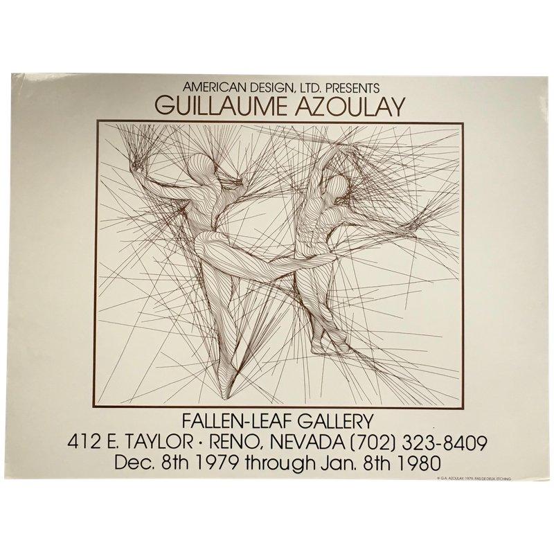 Vintage 1979 Pas De Deux Figure Study Art Gallery Exhibit Poster