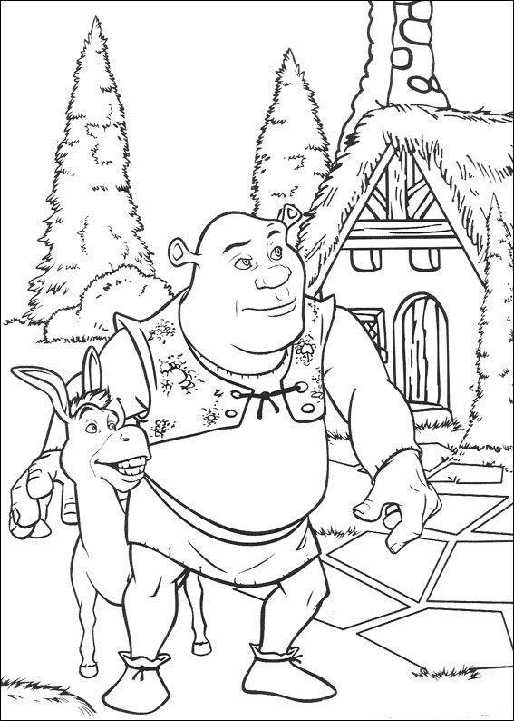 Dibujos para colorear shrek 140