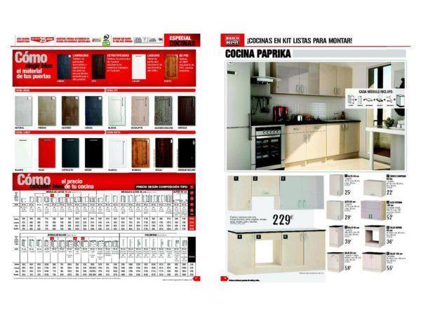 Cat logo brico depot cocinas febrero 2017 for Catalogo cocinas