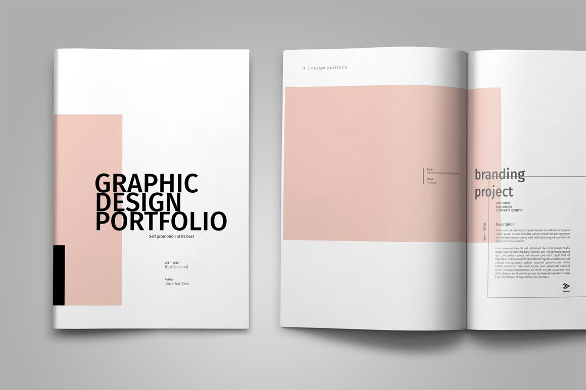 graphic design portfolio template 作品集 pinterest portfolio