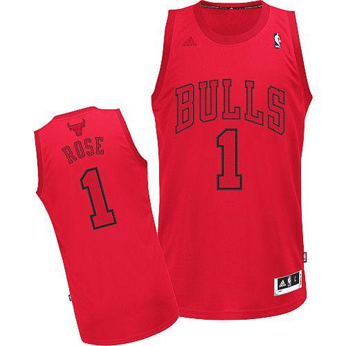 quality design a9377 139b2 Adidas NBA Chicago Bulls 1 Derrick Rose Big Color Fashion ...