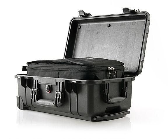A great, travel-friendly photo backpack that fits inside a pelican case.