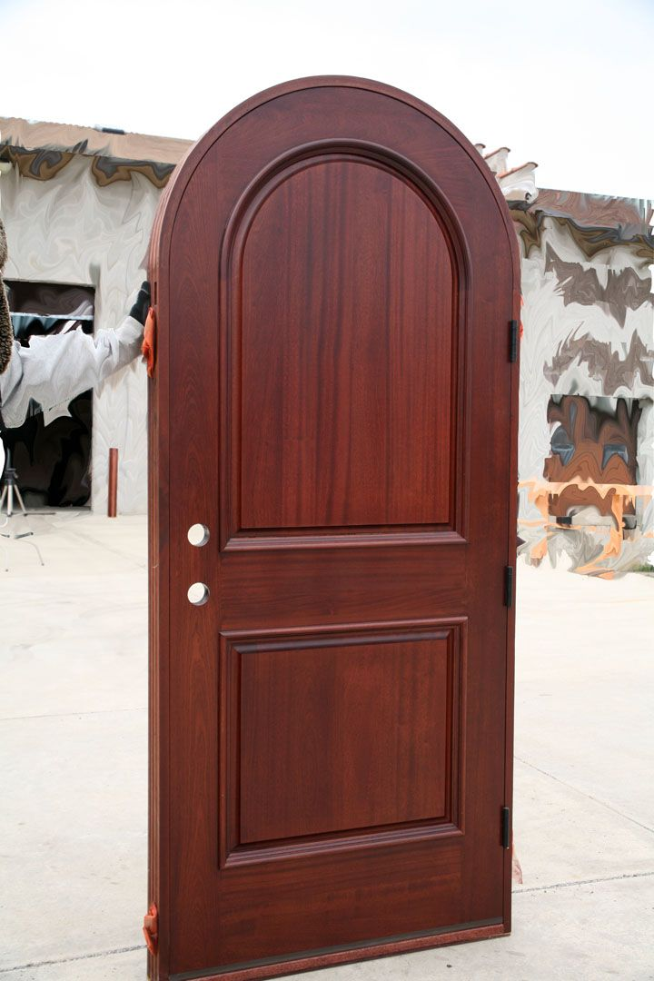 Mahogany Round Top 2 Panel Exterior Door Wood Exterior Door Wooden Door Design Doors Interior