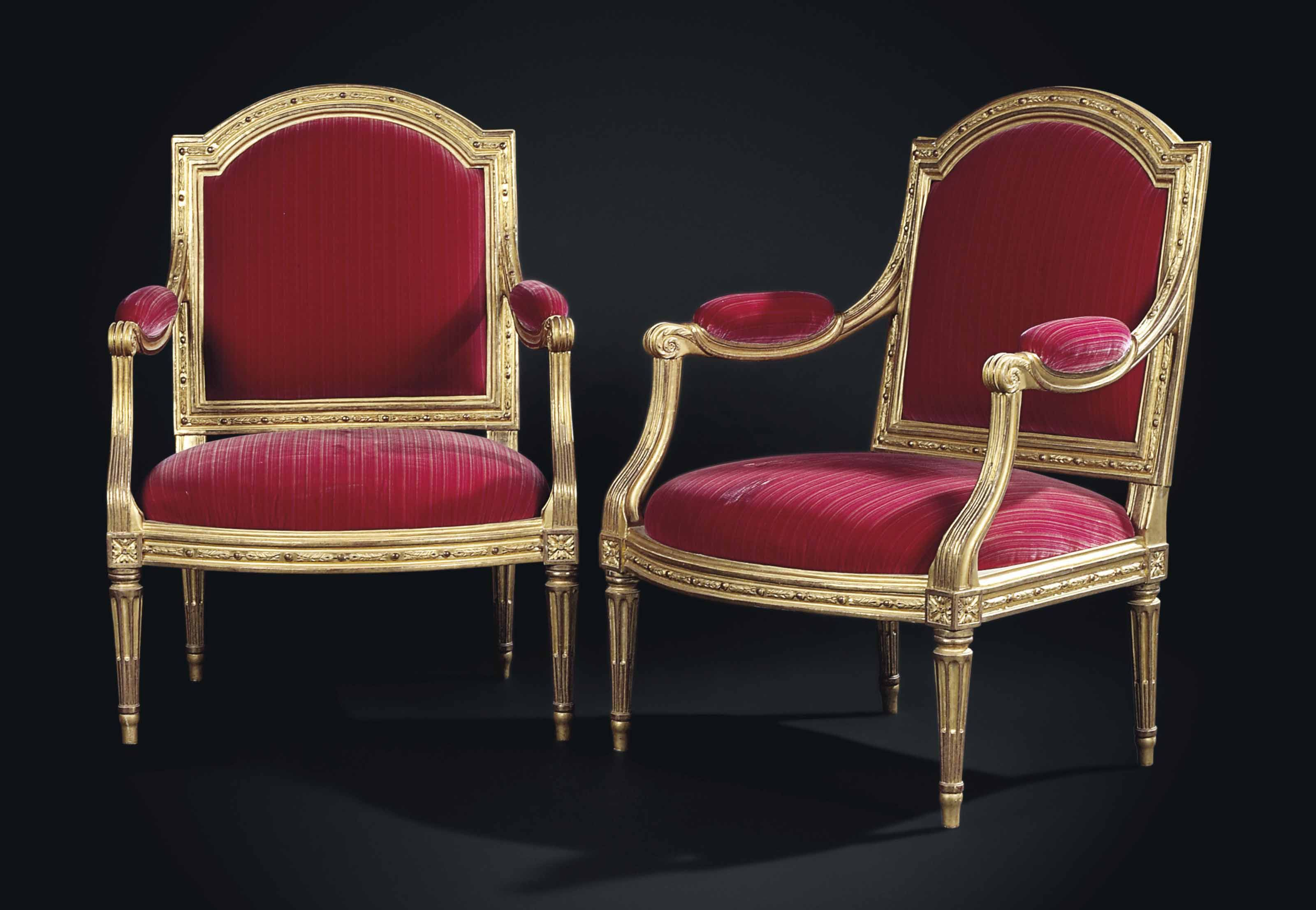 C1780 A Pair Of Louis Xvi Giltwood Fauteuils A La Reine By Louis Delanois Circa 1780 Price Rea French Style Furniture Louis Xvi Chair Balcony Table And Chairs