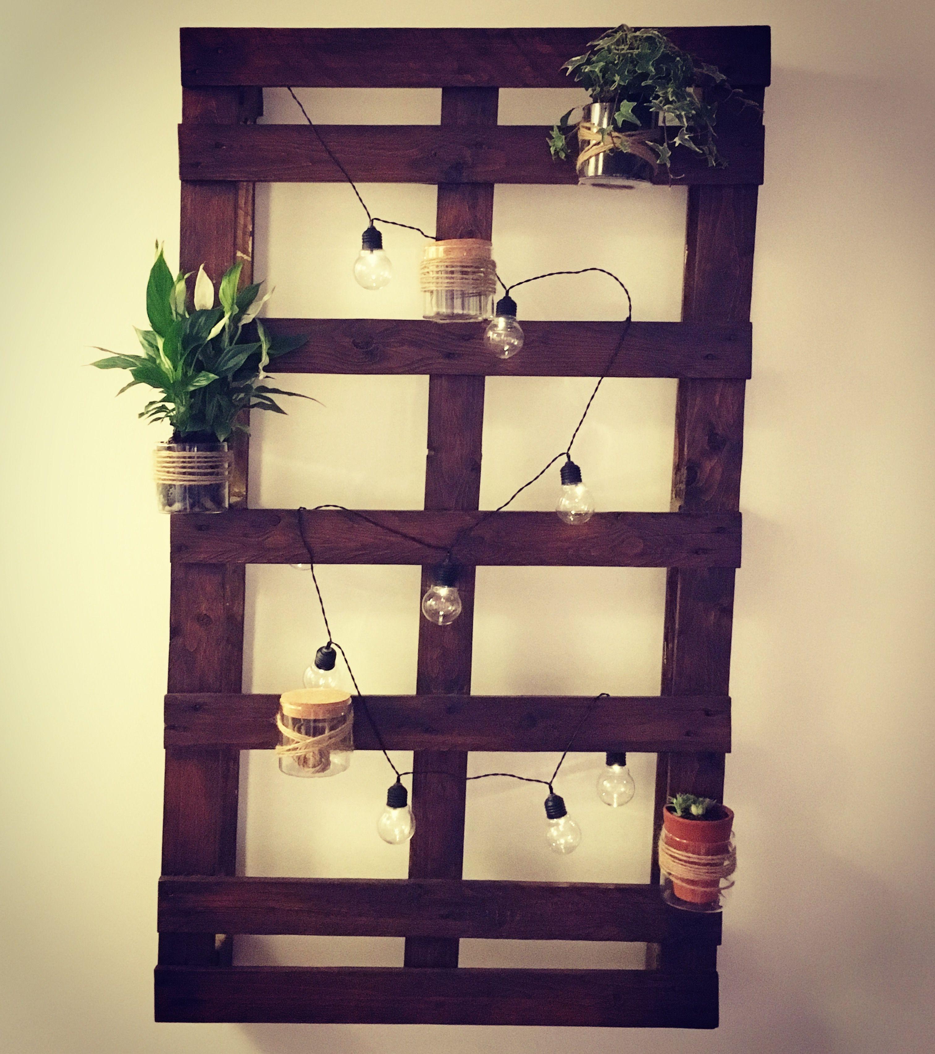 DIY Palette, lumière et plantes ✨