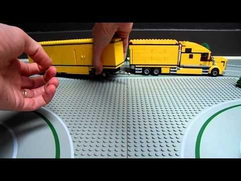 Lego 3221 Truck Moc V8 Extra Long Lzv City Youtube Lego Trucks