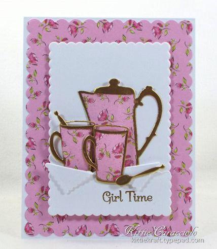 card cup cups mug coffee IO die set KC Impression Obsession Coffee Set