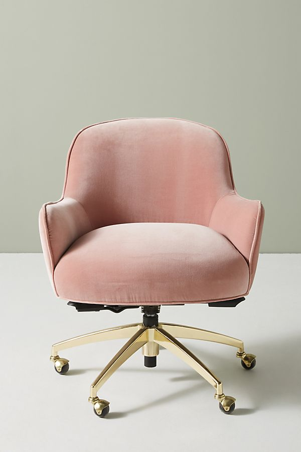 Camilla Swivel Desk Chair In 2020 Comfortable Office Chair Pink