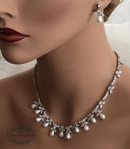 Bridal jewelry set Wedding jewelry set Swarovski crystal Bridal
