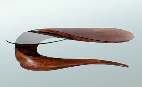 Michael Coffey Serpent biomorphic coffee table 1989 Home Style
