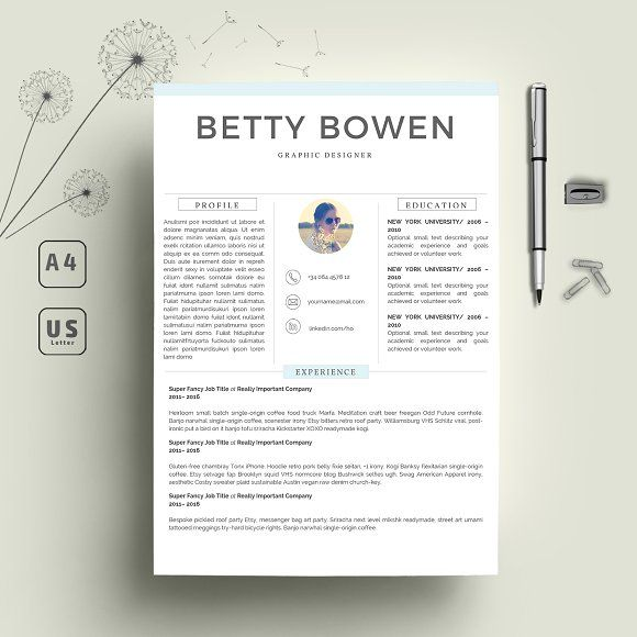 Resume Template 2 Pages Creativework247 Resume Template Professional Resume Template Simple Resume Template