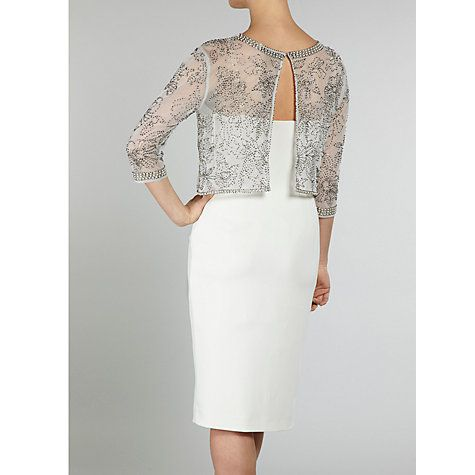 Buy Gina Bacconi Moss Crepe Dress, Butter Cream Online at johnlewis.com