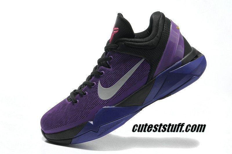 nike zoom kobe 7 shoes invisibility cloak black court purple turquoise blue 488371 005 58 99