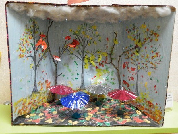 осенний уголок в детском саду фото
