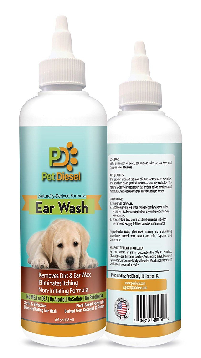Dog Ear Wash Cleanser Ideal For Ear Wax Removal Itchy Ears Yeast And Odor Elimination Effective And Non Irritating Naturally Dog Ear Wash Ear Wax Removal Ear Wax