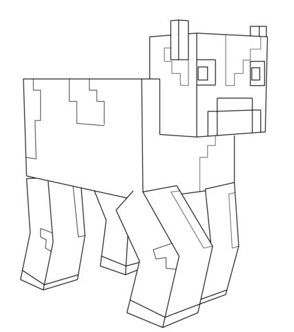 Minecraft cow coloring page minecraft minecraft for Disegni da colorare minecraft
