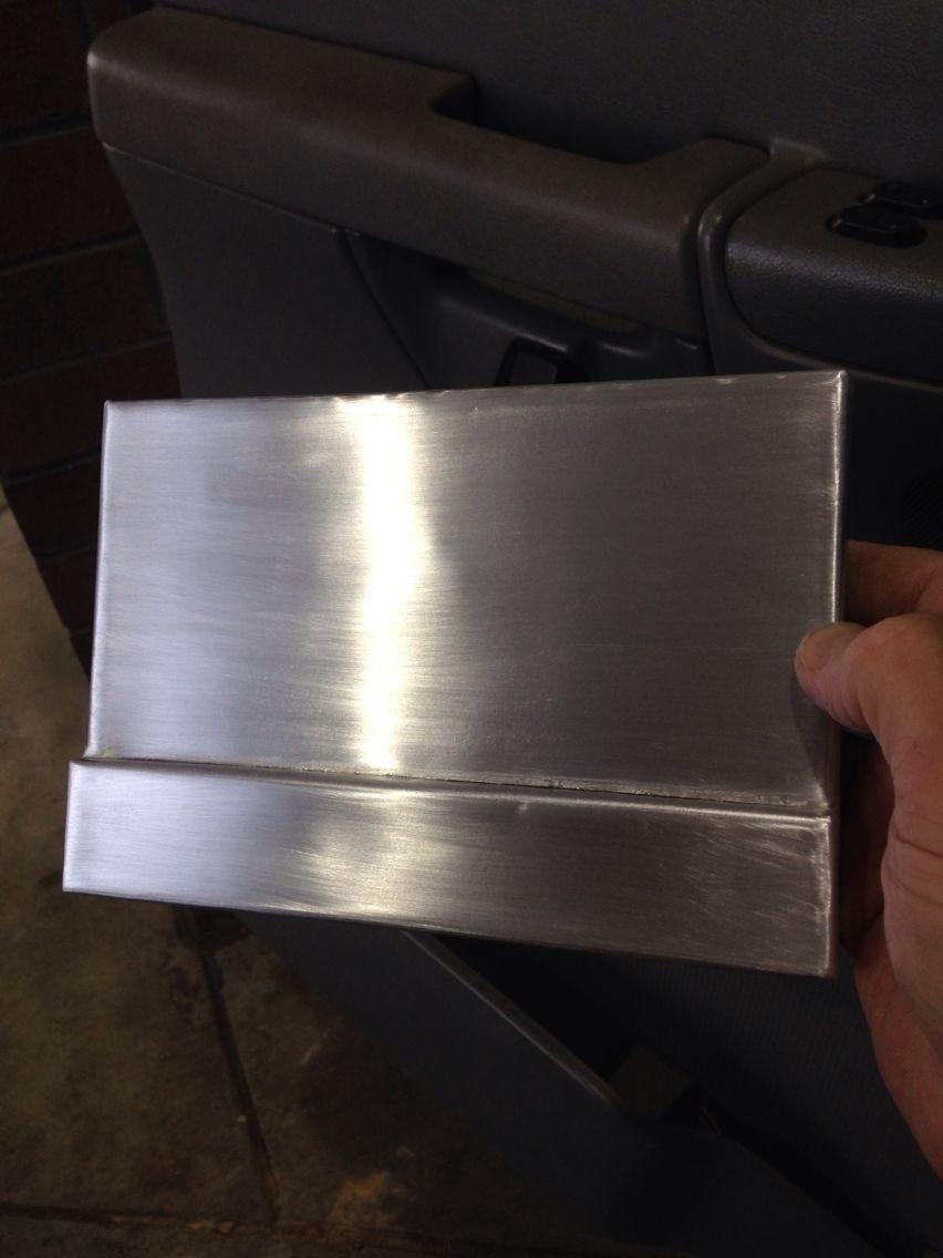 Zinc Sheet Metal Range Hood Sample With Brushed And Polished Finish Zinc Sheet Zinc Countertops Metal Range Hood