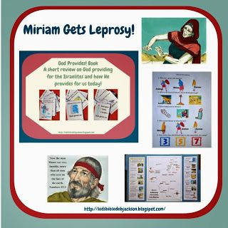 Moses Miriam Has Leprosy Bible Lessons For Kids Bible For Kids