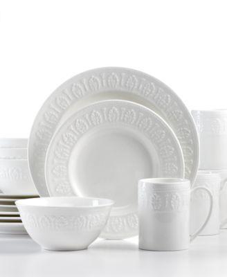 Martha Stewart Collection Dinnerware New Gatewood 16 Piece Set - White Dinnerware - Dining u0026 Entertaining - Macyu0027s  sc 1 st  Pinterest & Martha Stewart Collection Dinnerware New Gatewood 16 Piece Set ...