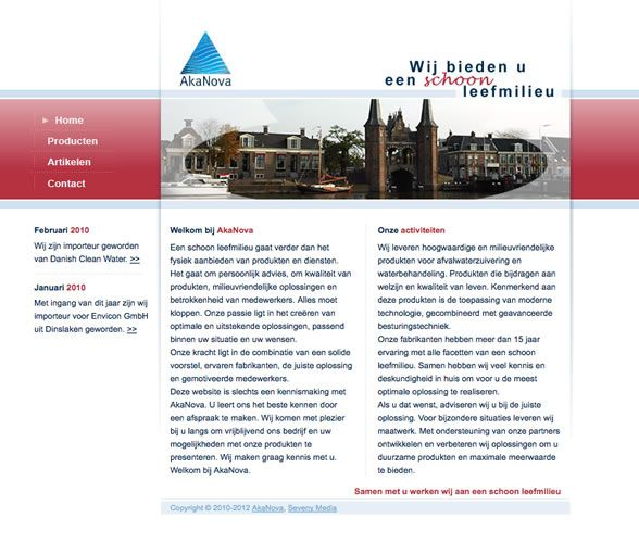 We did the design and development for the new website of AkaNova Milieutechniek