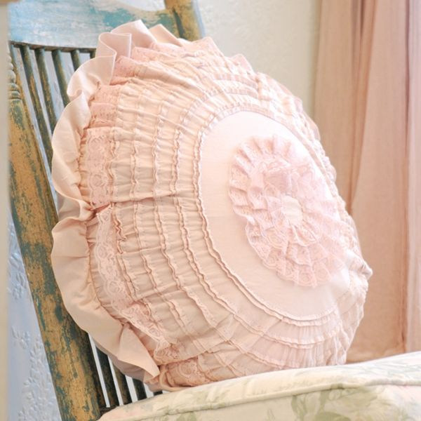 Rachel Ashwell Shabby Chic Pillows : Pink Petticoat Pillow from Rachel Ashwell Shabby Chic Couture P I N K Pinterest Round ...