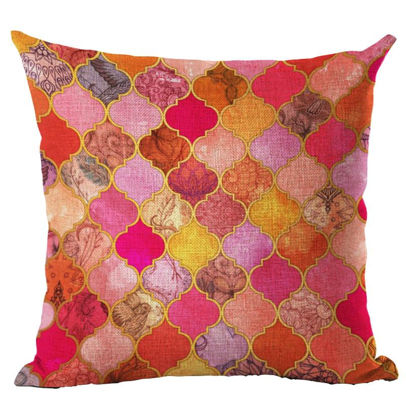 Tile Art Throw Pillow Cover - 18 patterns