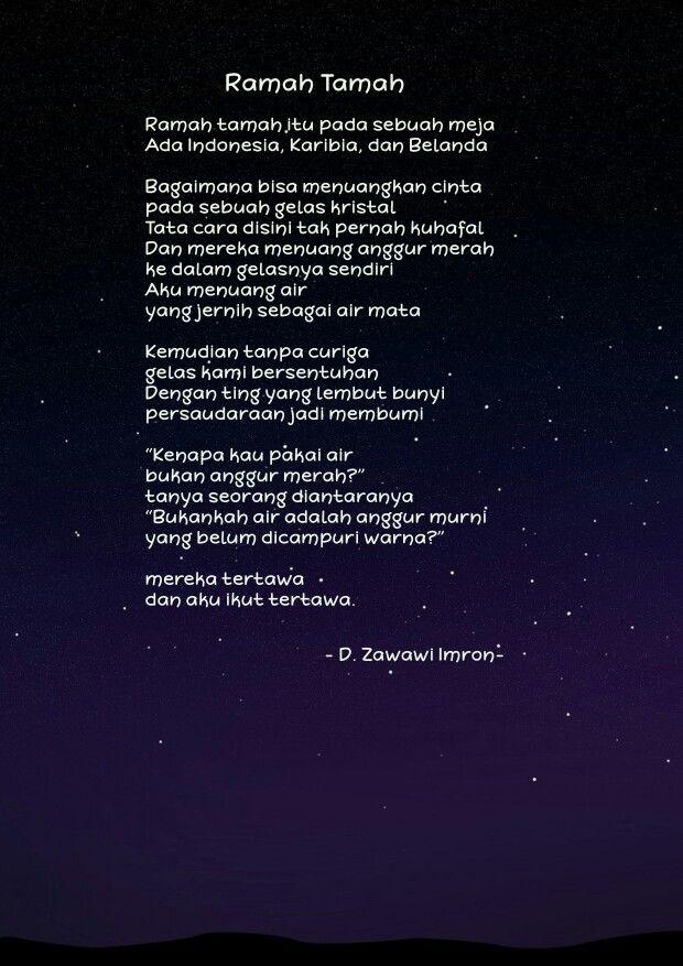Ramah Tamah D Zawawi Imron Quotes Movie Posters Movies
