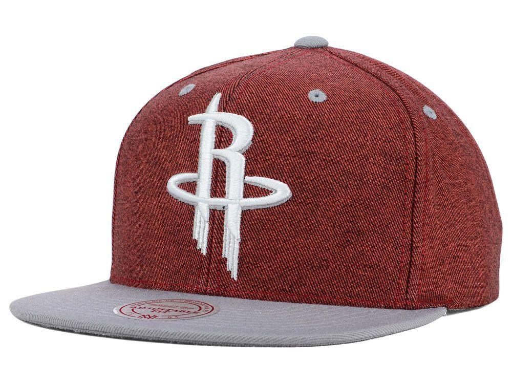 496706153 Houston Rockets Mitchell and Ness NBA Denim Harry Snapback Cap ...