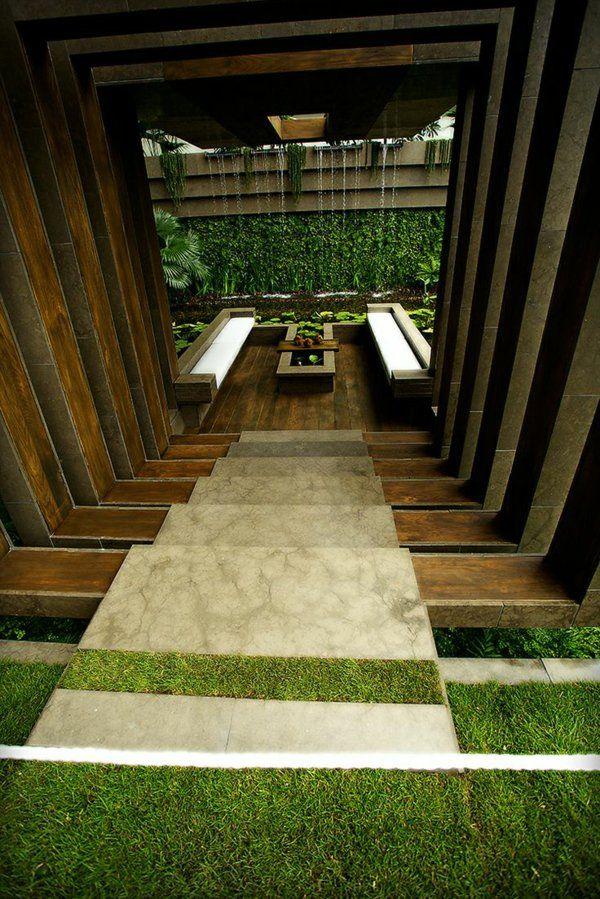 außenarchitektur moderne gartengestaltung stufenförmig sitzecke, Garten und erstellen
