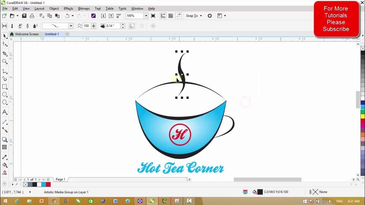 Corel Draw X8 Tutorials Simple Logo Designing Simple Logo Design Simple Logo Logo Design
