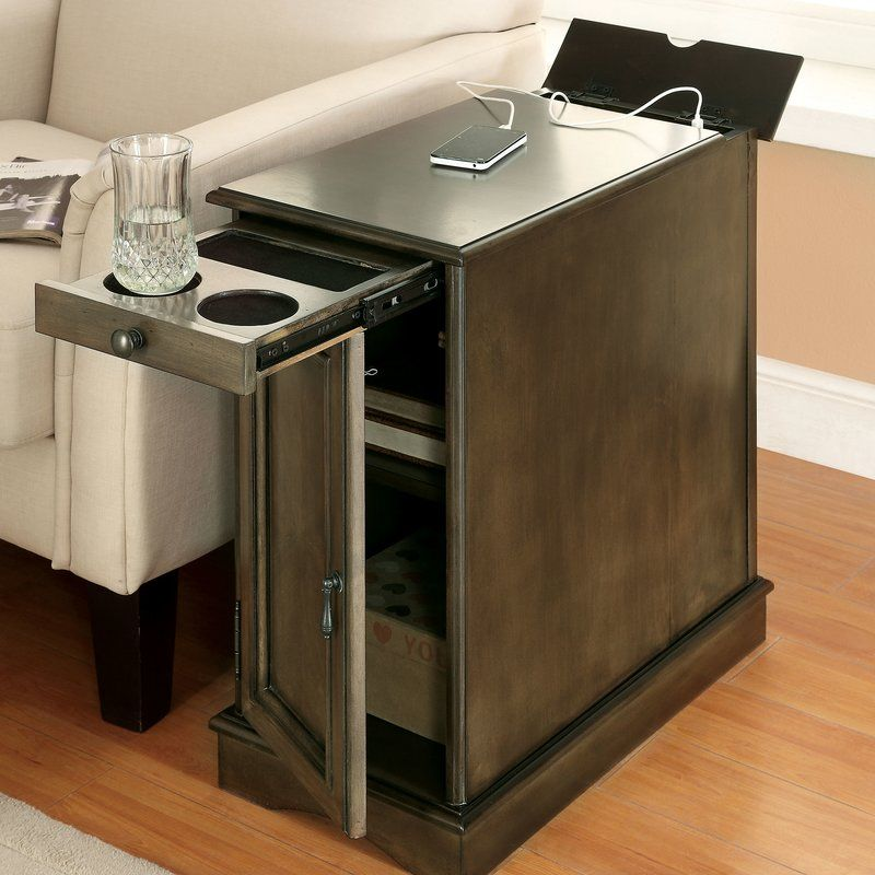Kipling End Table With Storage End Tables With Storage Sofa End